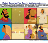 Paul Taught Lydia About Jesus Match Game
