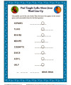Children's Bible Word Line Up Activity - Paul Taught Lydia About Jesus