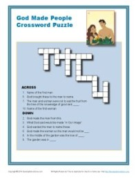 Bible Crossword Puzzle - God Made People