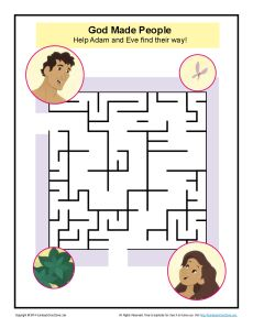 God Made People Maze Fun Bible Puzzles And Activities