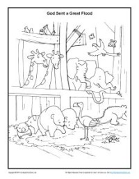 Animals in the Ark Coloring Page Noah 39 s Ark Coloring Pages