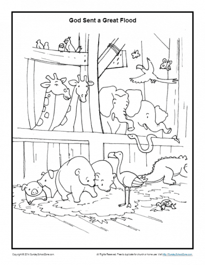Noah\'s Ark Coloring Pages | Noah Printable Sheets for Kids