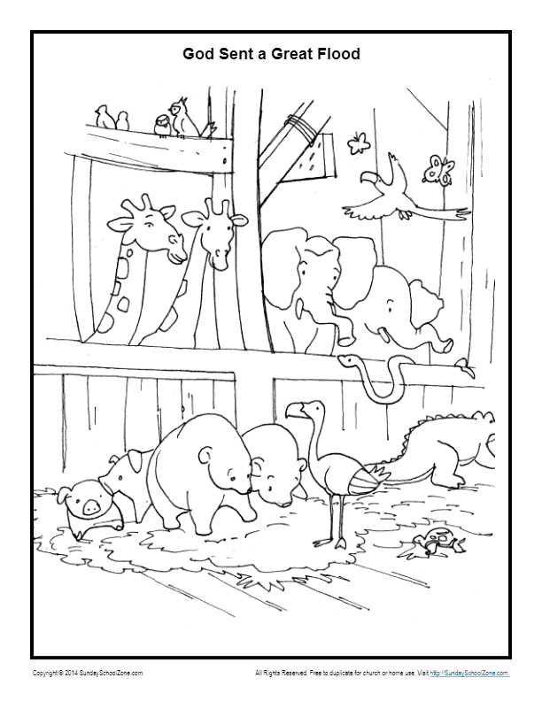 Animals In The Ark Coloring Page Noah S Ark Coloring Pages
