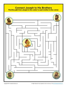Joseph S Brothers Maze Bible Themed Mazes For Children