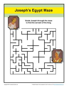 Maze - Help Joseph Find the King's Servant in Prison