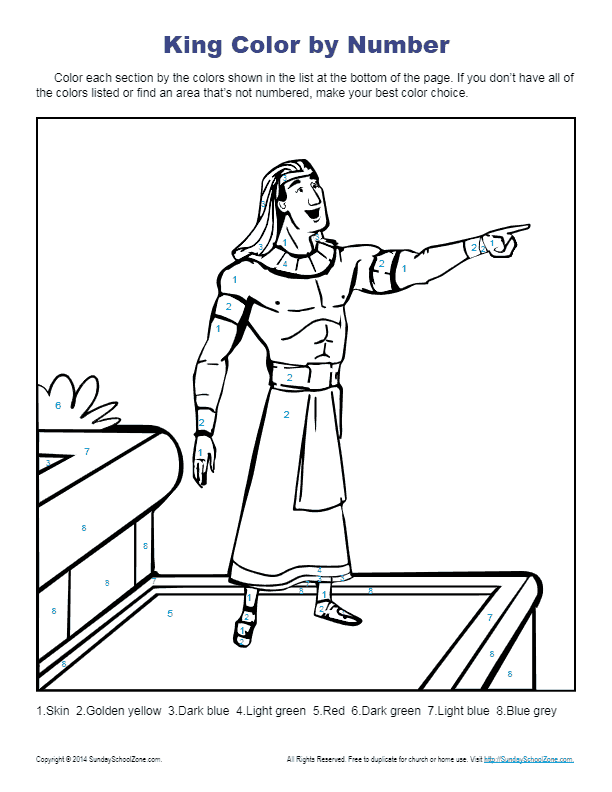 - Bible Story Coloring Pages For Kids Joseph Helped The King |
