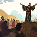 Joshua leads the people after Moses' death