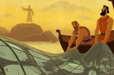 Peter Recognized Jesus—Bible Story Teaching Picture