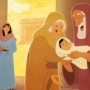 Simeon and Anna Saw Jesus—Bible Story Teaching Picture