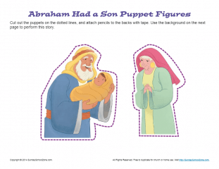 graphic about Bible Character Puppets Printable identified as Abraham Experienced a Son Puppets Bible Crafts for Little ones