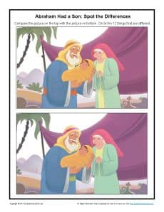 Abraham Had A Son Spot The Differences Jpg