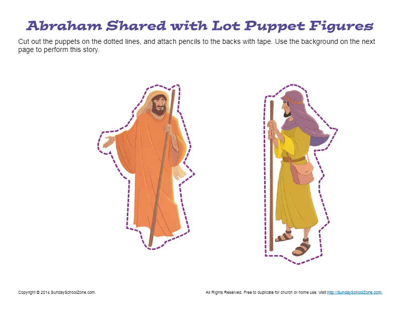 Abraham Shared with Lot Puppets