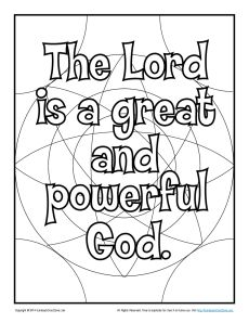 God Is All Powerful Thanksgiving Coloring Page
