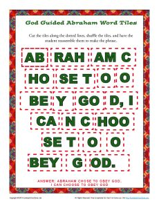 God Guided Abraham Word Tiles