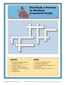 God Promised Abraham Crossword Jpg