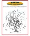 Bible Story Activity - Burning Bush Connect the Dots Coloring Page for Kids