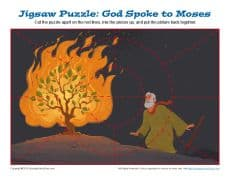 Bible Jigsaw Puzzle for Kids - The Burning Bush Bible Story