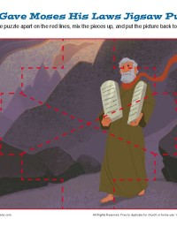 Ten Commandments Jigsaw Puzzle for Sunday School