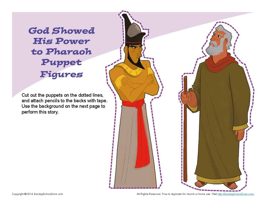 Moses Confronted Pharaoh Puppets Children S Bible Crafts
