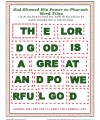 Children's Bible Word Tile Activity - God Showed His Power to Pharaoh