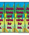 Jesus Loves and Cares for Me Bookmarks