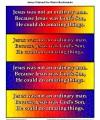 Jesus Calmed the Storm Bookmark For Kids