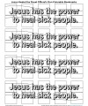 Bookmarks to Color—Jesus Can Heal