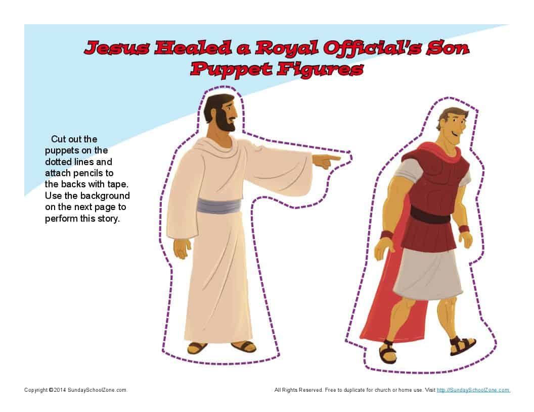 Jesus Healed an Official's Son Puppets | Bible Puppets for Kids