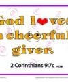 Bible Verses for Kids - 2 Corinthians 9:7