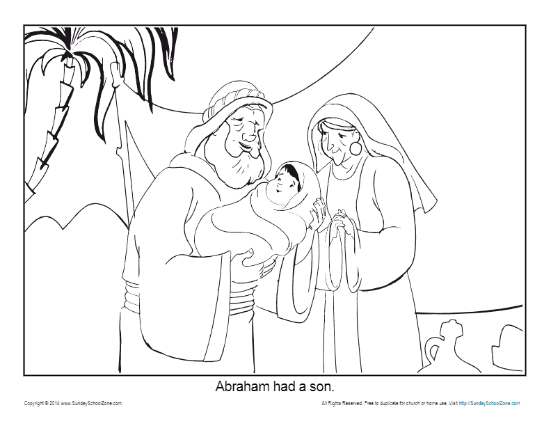 Abraham Coloring Page Printable Abraham Had A Son