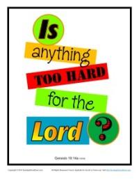 Bible Verses for Kids Poster - Genesis 18:14