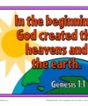 Bible Verses for Kids Poster - Genesis 1:1