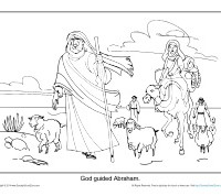 Abraham Coloring Page Printable - God Guided Abraham