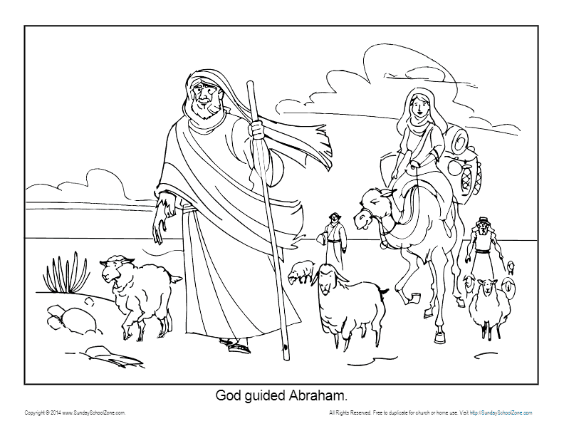 Abraham Coloring Page Printable