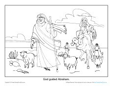 Abraham Coloring Page Printable God Guided Abraham