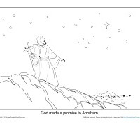 Abraham Coloring Page Printable - God Made a Promise to Abraham