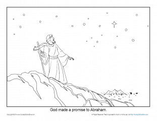 Abraham Coloring Page Printable God Made A Promise To Abraham