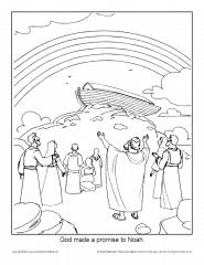 Noah Coloring Page Printable