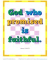 Bible Verses for Kids Poster - Hebrews 10:23