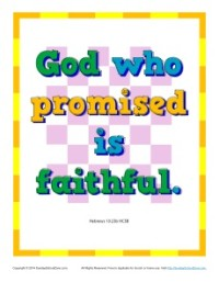 Bible Verses for Kids Poster - Hebrews 10:23