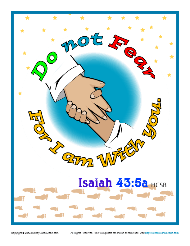 Bible Verses For Kids Printable Poster Isaiah 43 5a