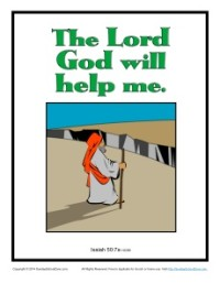 Bible Verses for Kids Poster - Isaiah 50:7