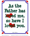 Bible Verses for Kids Poster - John 15:9