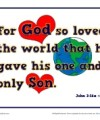 Bible Verses for Kids Poster - John 3:16