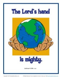 Bible Verses for Kids Poster - Joshua 4:24