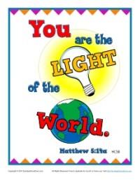 Bible Verses for Kids Poster - Matthew 5:14