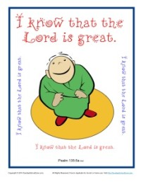Bible Verses for Kids Poster - Psalm 135:5