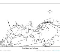 printable christmas bible coloring sheet for kids the shepherds