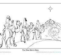 Printable Christmas Bible Coloring Sheet For Kids
