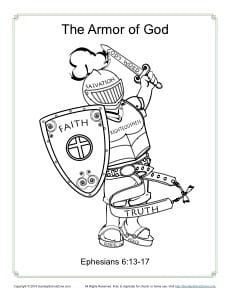Persnickety image with regard to armor of god printable coloring page